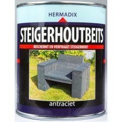 Hermadix steigerhoutbeits antraciet - 750 ml.