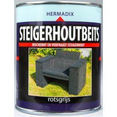 Hermadix steigerhoutbeits rotsgrijs - 750 ml.