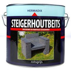 Hermadix steigerhoutbeits rotsgrijs - 2,5 liter