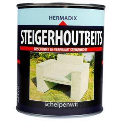 Hermadix steigerhoutbeits schelpenwit - 750 ml.