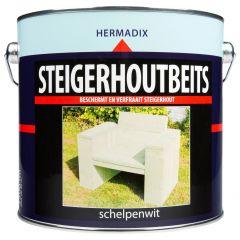 Hermadix steigerhoutbeits schelpenwit - 2,5 liter