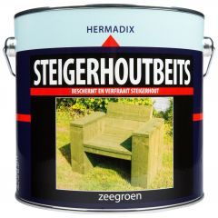 Hermadix steigerhoutbeits zeegroen - 2,5 liter
