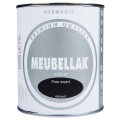 Hermadix meubellak extra puur zwart krijtmat - 750 ml.