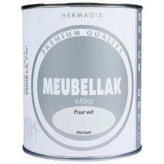 Hermadix meubellak extra puur wit krijtmat - 750 ml.