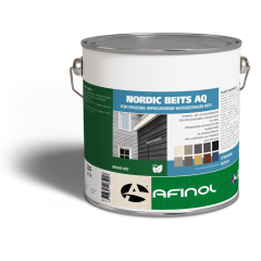 Afinol nordic beits AQ diepzwart - 2,5 liter