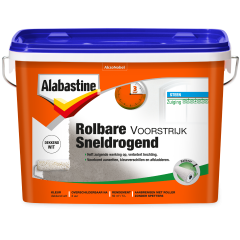Alabastine rolbare voorstrijk dekkend wit - 5 liter