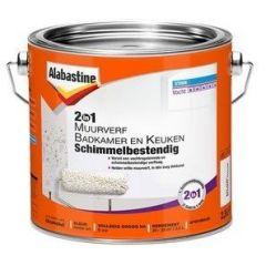 Alabastine muurverf 2in1 badkamer & keuken anti schimmel - 2,5 liter