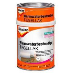 Alabastine warmwaterbestendige tegellak (2 componenten) wit - 750 ml.