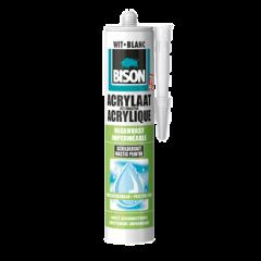Bison acrylaatkit regenvast wit - 310 ml.