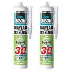 Bison acrylaatkit snel 30 min. wit duoverpakking - 2 x 310 ml.