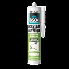 Bison acrylaatkit structuur wit - 310 ml.