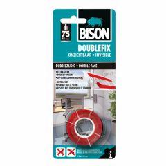 Bison double fix onzichtbaar dubbelzijdige montagetape - 19 mm. x 1,5 meter