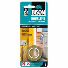 Bison double fix universeel dubbelzijdige montagetape - 19 mm. x 1,5 meter