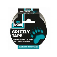 Bison grizzly tape zilver - 25 meter