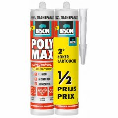 Bison polymax crystal express transparant duoverpakking