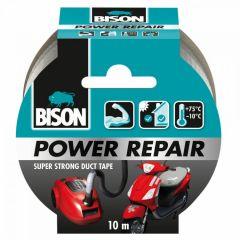 Bison power repair tape grijs - 10 meter