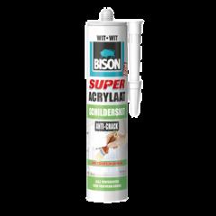 Bison super acrylaat schilderskit wit - 300 ml.