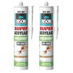 Bison super acrylaat schilderskit wit duoverpakking - 2 x 300 ml.