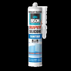 Bison super silicone sanitair transparant - 310 ml.