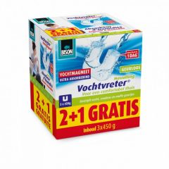 Bison vochtvreter vochtmagneten navulling promopack - 2 + 1 gratis!