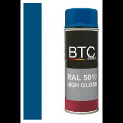 BTC-Line alkydlak hoogglans gentiaanblauw (RAL 5010) - 400 ml