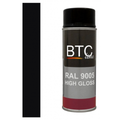 BTC-Line alkydlak hoogglans zwart (RAL 9005) - 400 ml
