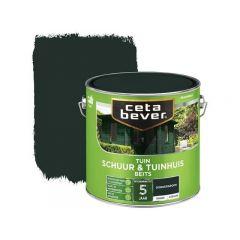 Cetabever schuur & tuinhuis beits dekkend zijdeglans donkergroen - 2,5 liter