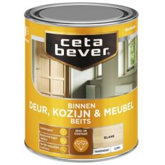 Cetabever deur, kozijn & meubelbeits transparant hoogglans blank 0103 - 750 ml.