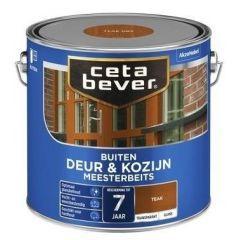 Cetabever deur & kozijn meesterbeits transparant glans teak - 2,5 liter