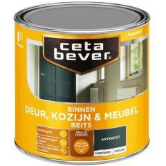 Cetabever deur, kozijn & meubelbeits transparant zijdeglans antraciet 0503 - 250 ml.