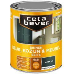 Cetabever deur, kozijn & meubelbeits transparant zijdeglans antraciet 0503 - 750 ml.