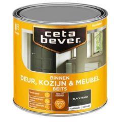 Cetabever deur, kozijn & meubelbeits transparant zijdeglans black wash 0597 - 750 ml.