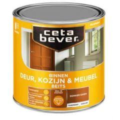 Cetabever deur, kozijn & meubelbeits transparant zijdeglans donker eiken 0109 - 750 ml.