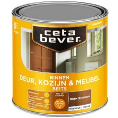 Cetabever deur, kozijn & meubelbeits transparant zijdeglans donker kersen 0135 - 250 ml.