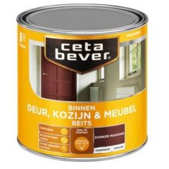 Cetabever deur, kozijn & meubelbeits transparant zijdeglans donker mahonie 0147 - 750 ml.