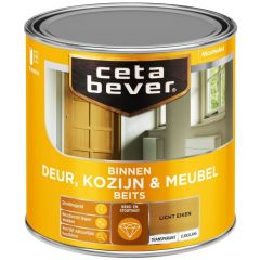 Cetabever deur, kozijn & meubelbeits transparant zijdeglans licht eiken 0106 - 250 ml.