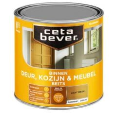 Cetabever deur, kozijn & meubelbeits transparant zijdeglans licht eiken 0106 - 750 ml.