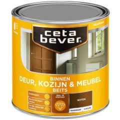 Cetabever deur, kozijn & meubelbeits transparant zijdeglans noten 0110 - 250 ml.