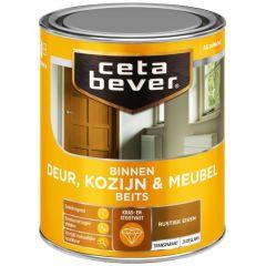 Cetabever deur, kozijn & meubelbeits transparant zijdeglans rustiek eiken 0107 - 750 ml.