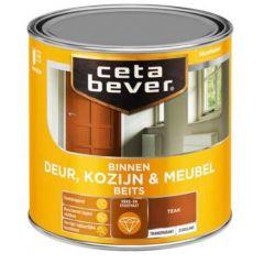 Cetabever deur, kozijn & meubelbeits transparant zijdeglans teak 0185 - 750 ml.