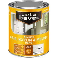 Cetabever deur, kozijn & meubelbeits transparant zijdeglans white wash 0591 - 750 ml.