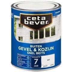 Cetabever gevel & kozijn snel beits dekkend wit - 750 ml.