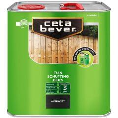 Cetabever schuttingbeits antraciet - 2,5 liter