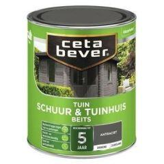 Cetabever schuur & tuinhuis beits dekkend antraciet - 750 ml.