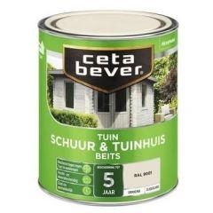 Cetabever schuur & tuinhuis beits dekkend zijdeglans RAL 9001 - 750 ml.