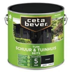 Cetabever schuur & tuinhuis beits dekkend zwart - 2,5 liter