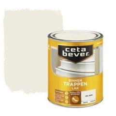 Cetabever trappenlak dekkend zijdeglans RAL 9010 gebroken wit - 750 ml.