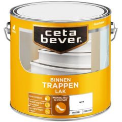 Cetabever trappenlak dekkend zijdeglans wit - 2,5 liter