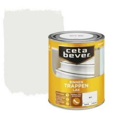 Cetabever trappenlak dekkend zijdeglans wit - 750 ml.