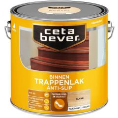 Cetabever trappenlak transparant zijdeglans anti-slip blank - 2,5 liter